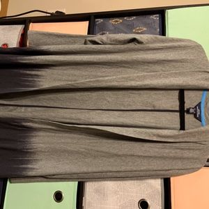 Lands' End Sweaters - Ladies' Lands' End Navy & Gray AT&T Cardigan XL
